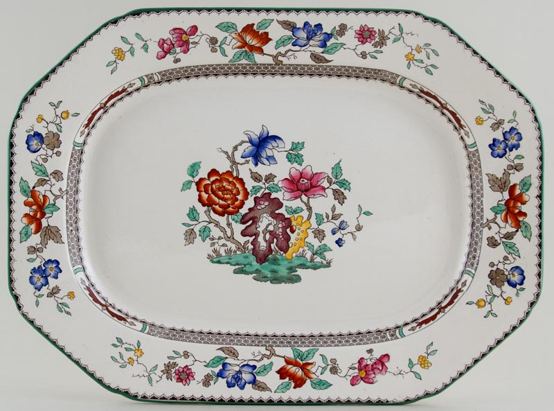 Spode Chinese Rose colour Meat Dish or Platter c1940