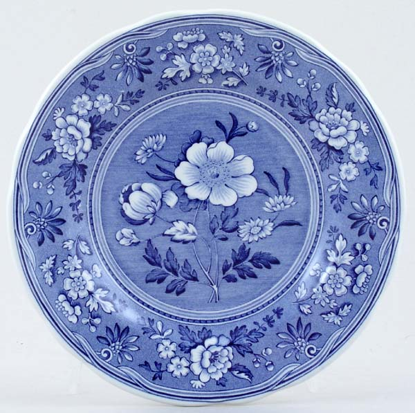 Spode Blue Room Plate Botanical c1997