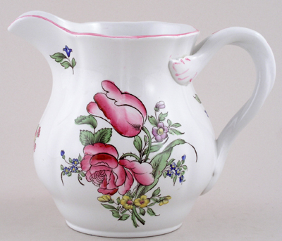 Spode Marlborough Sprays colour Jug or Pitcher c1970