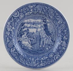 Spode Blue Room Miniature Plate Woodman c2000