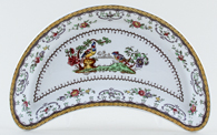 Spode Chelsea colour Crescent Side Dish c1934