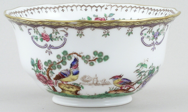Spode Chelsea colour Sugar Bowl c1920s