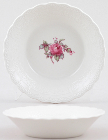 Spode Billingsley Rose colour Fruit Saucer c1970s