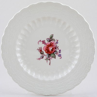 Spode Billingsley Rose colour Plate c1970s