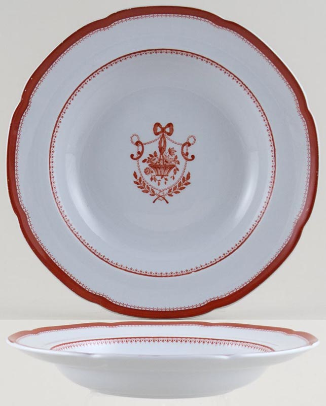 Spode Newburyport red Soup Plate c1961