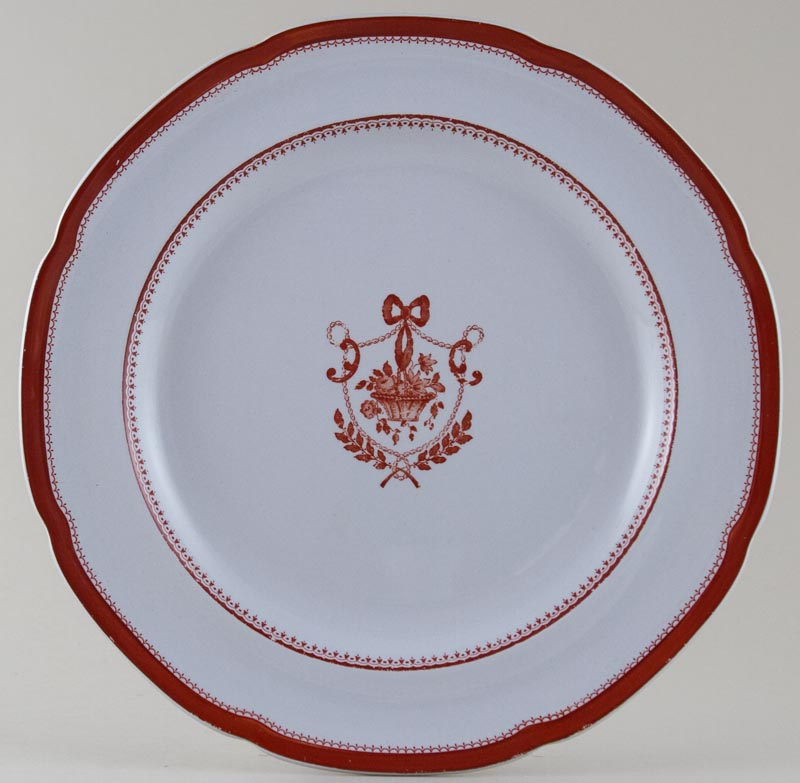 Spode Newburyport red Dinner Plate c1960s