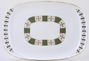 Spode Persia green Meat Dish or Platter c1963