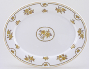 Spode Austen yellow Meat Dish or Platter c1970s