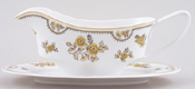 Spode Austen yellow Sauce Boat with Stand c1970s