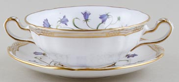 Spode Campanula colour Soup Cup and Saucer c1985