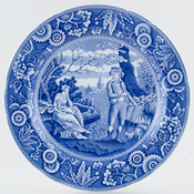 Spode Blue Room Plate Woodman c2000