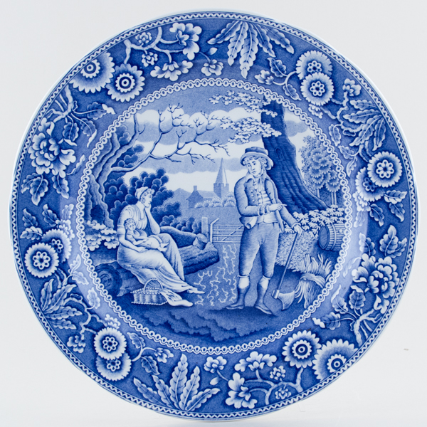 Spode Blue Room Plate Woodman c1994