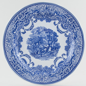 Spode Blue Room Plate Continental Views c2002