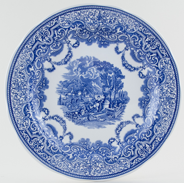 Spode Blue Room Plate Continental Views c1996