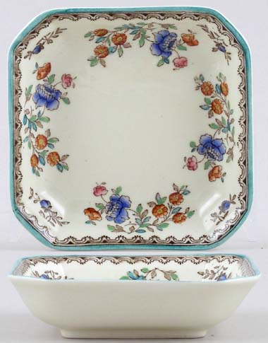 Spode Audley colour Square Dish small c1955