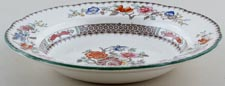 Spode Chinese Rose colour Dessert Bowl with rim c1920s to 1950s