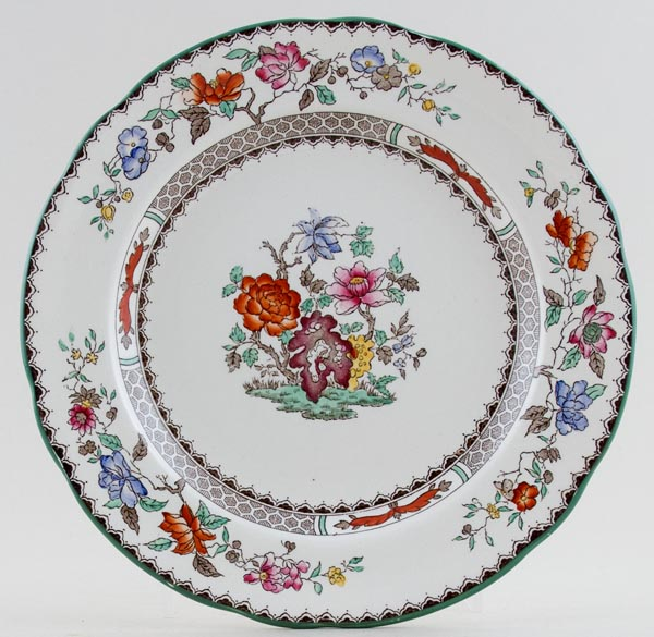 Spode Chinese Rose colour Plate c1930s to 2000