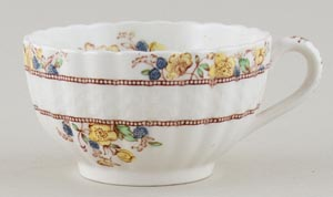 Spode Buttercup brown with colour Teacup c1950