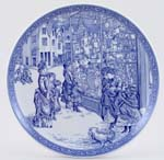 Spode Blue Room Christmas Plate 1998