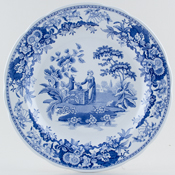 Spode Blue Room Plate Girl at Well c1990s-2004