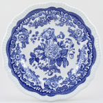 Spode Blue Room Plate British Flowers c1996