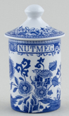 Spode Blue Room Spice Jar Nutmeg Grasshopper c2000