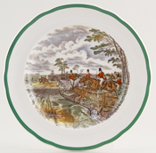 Spode The Hunt colour Plate c1955