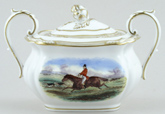 Spode The Hunt colour Covered Sugar c1960s