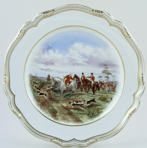 Spode The Hunt colour Plate c1960s