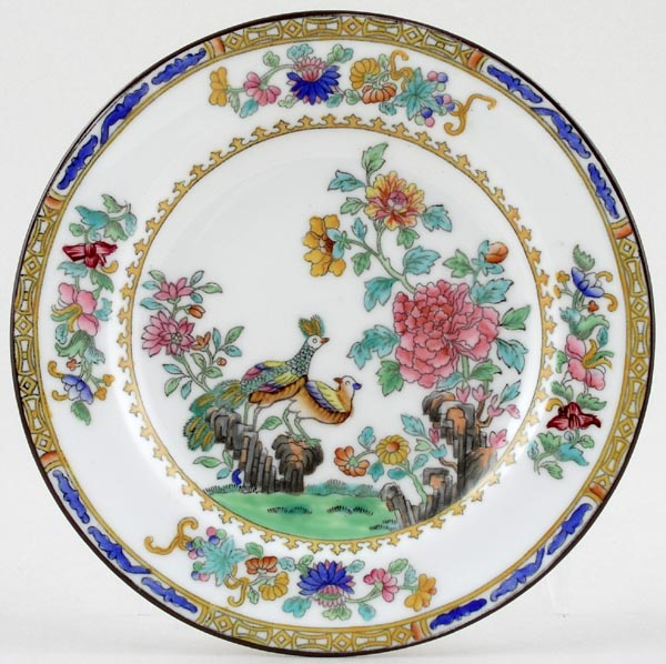Spode Peacock colour Plate c1920