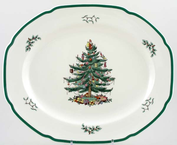 Spode Christmas Tree colour Meat Dish or Platter c1991