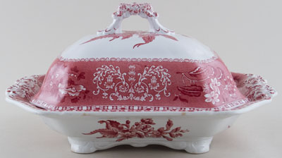 Spode Camilla pink Covered Vegetable Dish c1960s