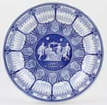 Spode Blue Room Calendar Plate Greek 1997