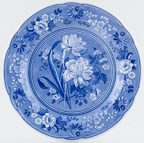 Spode Blue Room Plate Botanical c1993