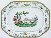 Spode Chelsea colour Meat Dish or Platter c1926