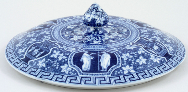 Spode Greek Vegetable Dish Cover c1920