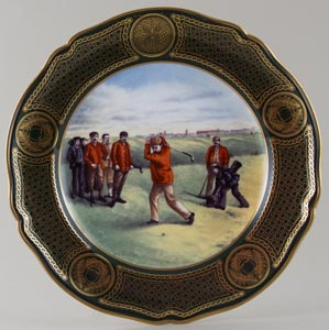 Spode The Antique Golf Series colour Plate No 2 c1990s