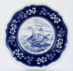 Plate Wild Geese c1960s