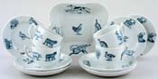 Spode Animals green Tea Set part c1905