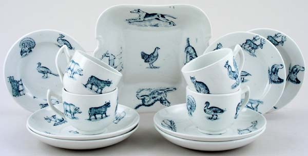 Spode Animals green Toy Tea Set part c1905