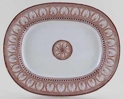 Spode Honeysuckle brown Platter c1876