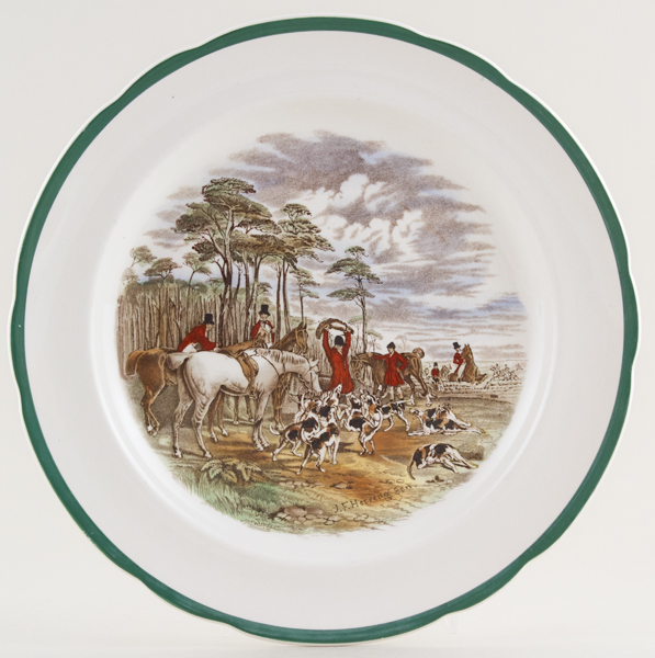 Spode The Hunt colour Plate c1950s