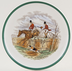 Spode The Hunt colour Soup Cup Saucer c1952
