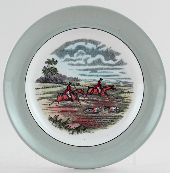 Spode The Hunt colour Plate c1957