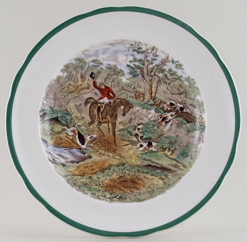 Spode The Hunt colour Plate c1960