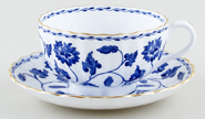 Spode Blue Colonel Teacup and Saucer c1960