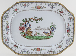 Spode Chelsea colour Meat Dish or Platter c1934