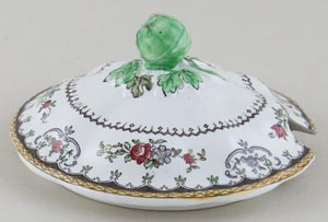 Spode Chelsea colour Sauce Tureen cover c1930s