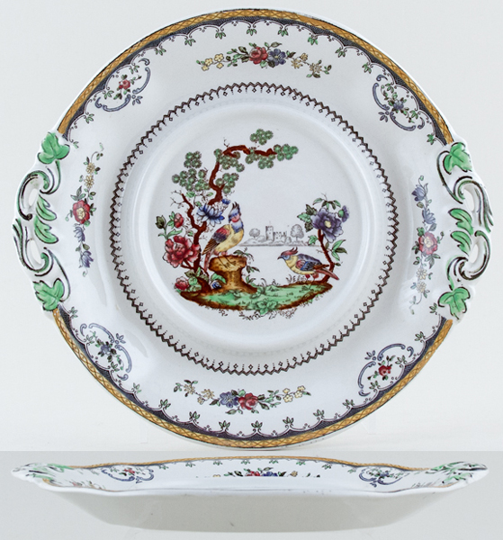 Spode Chelsea colour Sauce Tureen stand c1930s
