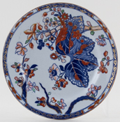Spode Cabbage blue with colour Plate c1860